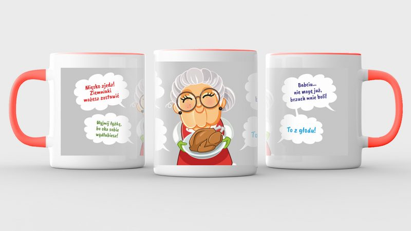 Mug mock up isolated on light gray background. 3D illustrating