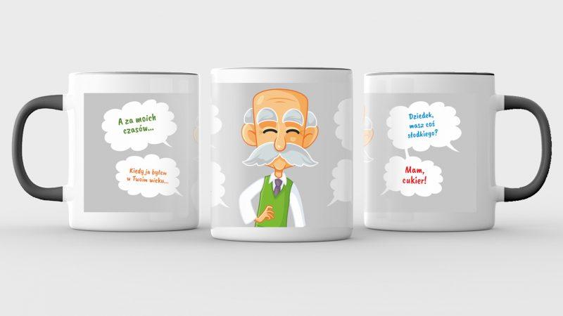 Mug mock up isolated on light gray background. 3D illustrating