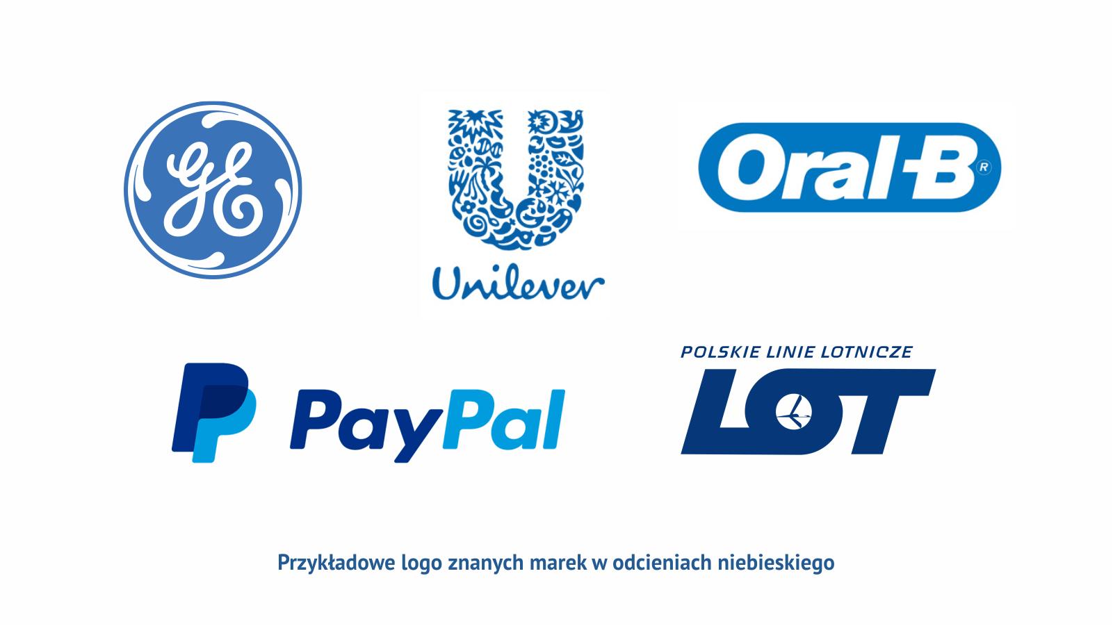 Niebieski Przyklady Logo