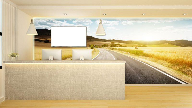 counter reception design - 3d Rendering