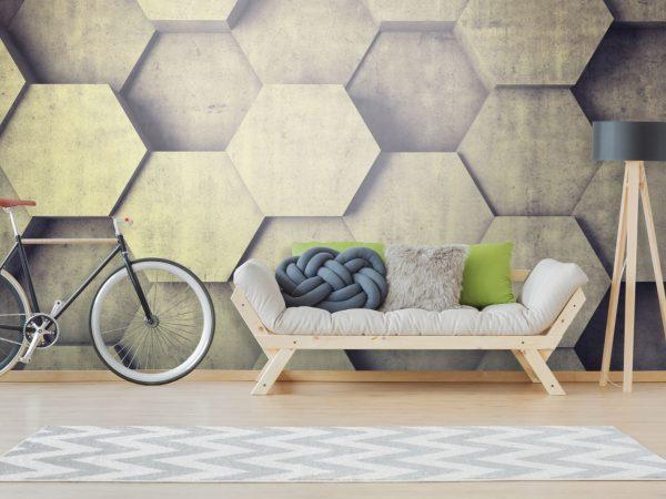 Betonowy Plaster Miodu 3D